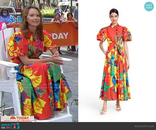 Floral Puff Sleeve Shirtdress by Christopher John Rogers for Target worn by Dr. Samantha Boardman on Today