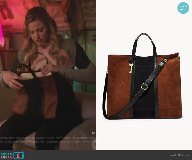 Carmen Large Tote by Fossil worn by Betty Cooper (Lili Reinhart) on Riverdale