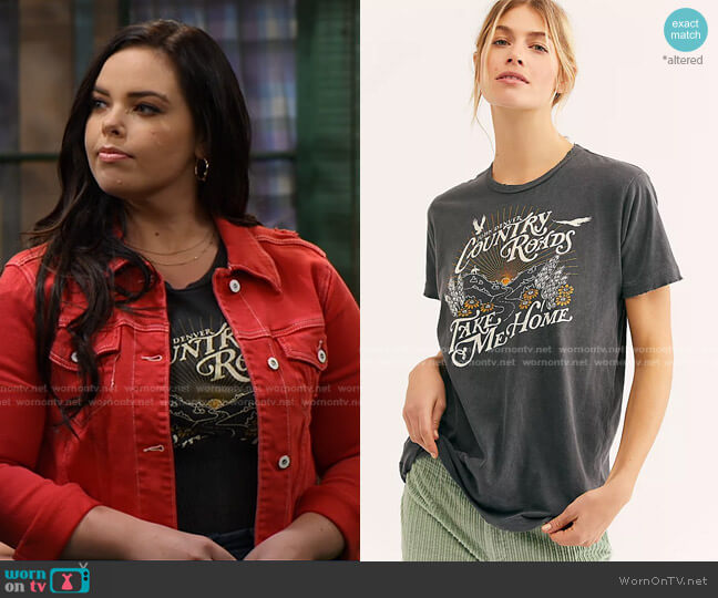 Country Roads Tee by Free People worn by Lou Hockhauser (Miranda May) on Bunkd