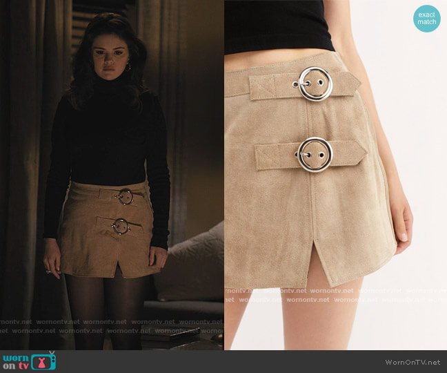 Understated Buckle Mini Skirt by Understated at Free People worn by Mabel Mora (Selena Gomez) on Only Murders in the Building