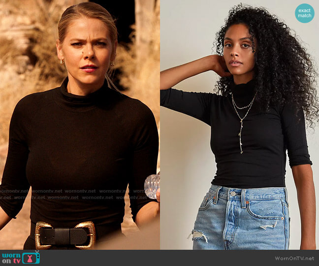 Free People Modern Turtleneck Top worn by Isobel Evans-Bracken (Lily Cowles) on Roswell New Mexico