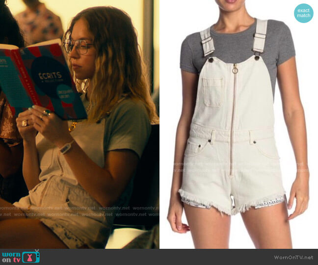 Free People Sunkissed Shortalls worn by Olivia Mossbacher (Sydney Sweeney) on The White Lotus