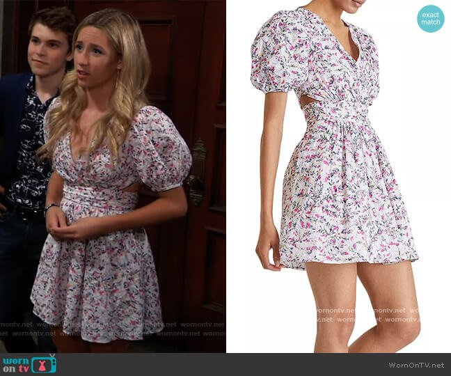 Flores Cotton Cutout Dress by French Connection worn by Josslyn Jacks (Eden McCoy) on General Hospital