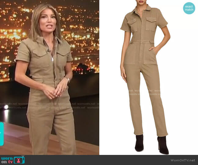 Fit For Success Jumpsuit by Good American worn by Kit Hoover  on Access Hollywood