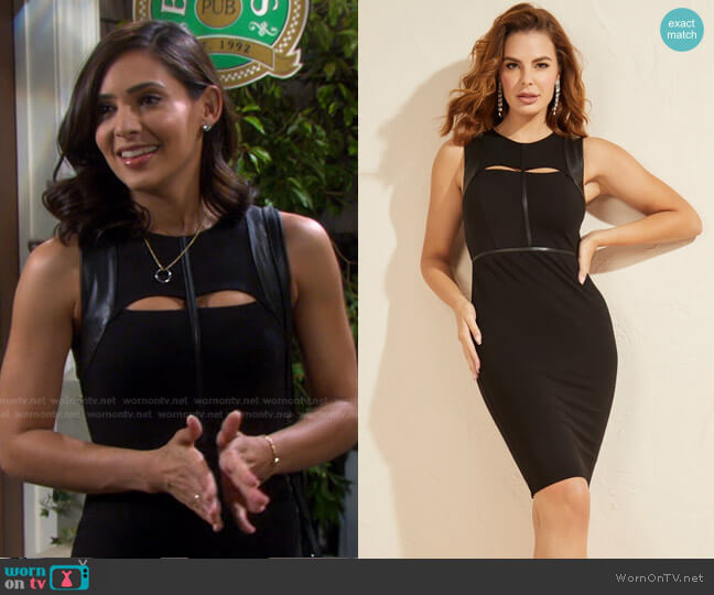 Cragen Dress by Guess worn by Gabi Hernandez (Camila Banus) on Days of our Lives