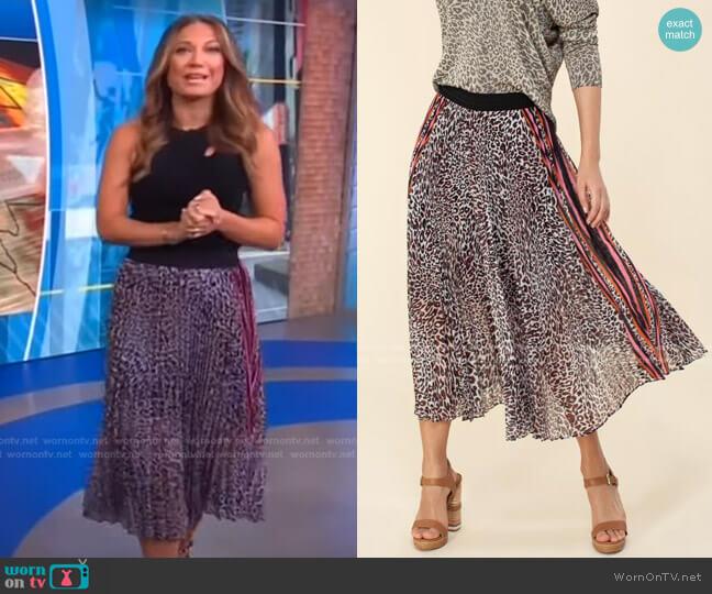 Elsie Skirt by Hale Bob worn by Ginger Zee  on Good Morning America