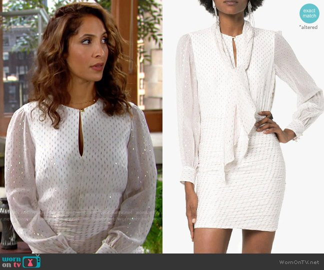 Haney Pippa Dress worn by Lily Winters (Christel Khalil) on The Young & the Restless