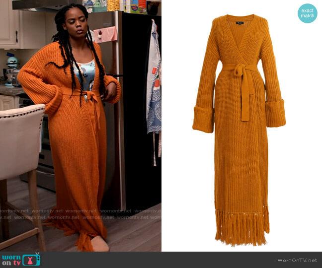 Hanifa Miya Knit Cardigan Dress worn by Sabrina Hollins (Novi Brown) on Tyler Perrys Sistas