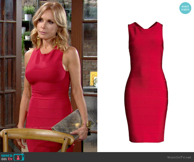 Herve Leger Sleeveless Bandage Cocktail Dress worn by Lauren Fenmore (Tracey Bregman) on The Young & the Restless