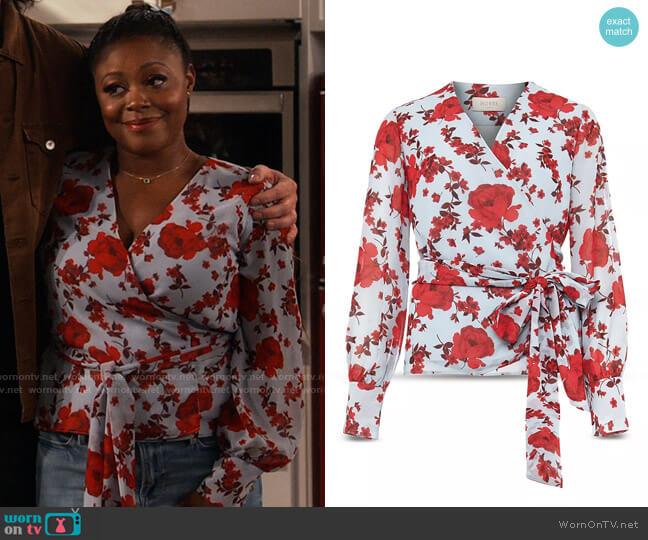 Hobbs Elizabeth Blouse worn by Maeve (Lyric Lewis) on iCarly