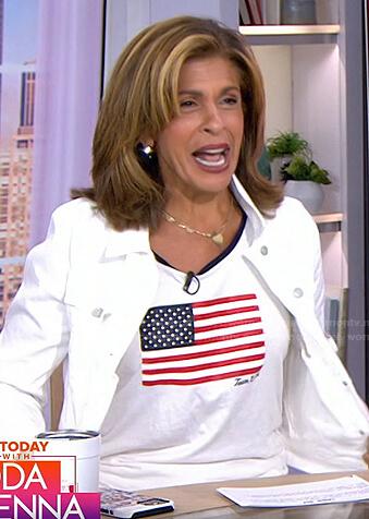 Hoda's USA flag print top on Today