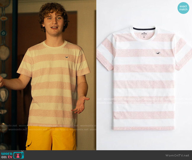 Hollister Must Have Striped T-shirt worn by Quinn Mossbacher (Fred Hechinger) on The White Lotus