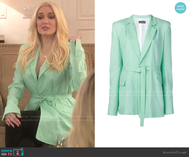 Oversized Belted Ripstop Blazer by House of Holland worn by Erika Jayne  on The Real Housewives of Beverly Hills