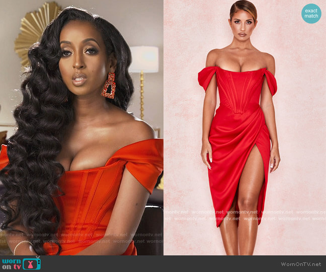 Loretta Dress by House of CB worn by Askale Davis on The Real Housewives of Potomac