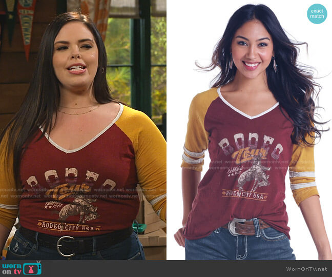 Rodeo City USA Graphic Shirt by J&B western Store worn by Lou Hockhauser (Miranda May) on Bunkd