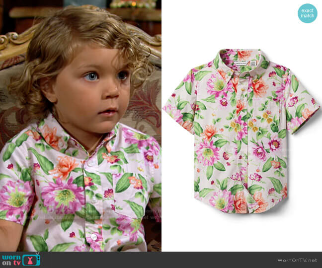 Janie & Jack Dahlia Shirt worn by Harrison Locke on The Young and the Restless