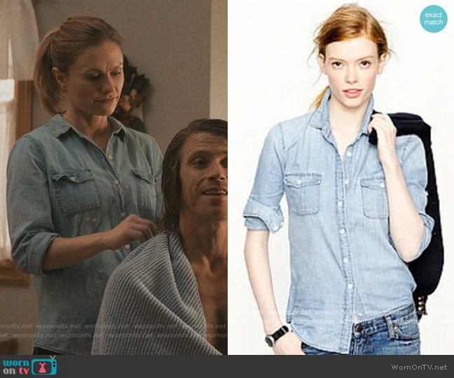 Chambray Shirt by J. Crew worn by Anna Paquin on Modern Love