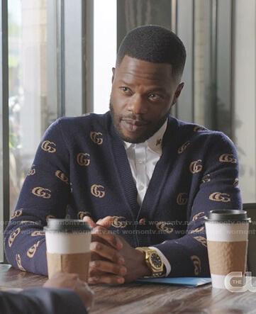 Fallon's velvet wrap coat on Dynasty