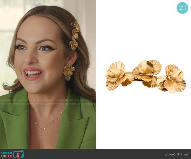 Pansy Barrette by Jennifer Behr worn by Fallon Carrington (Elizabeth Gillies) on Dynasty