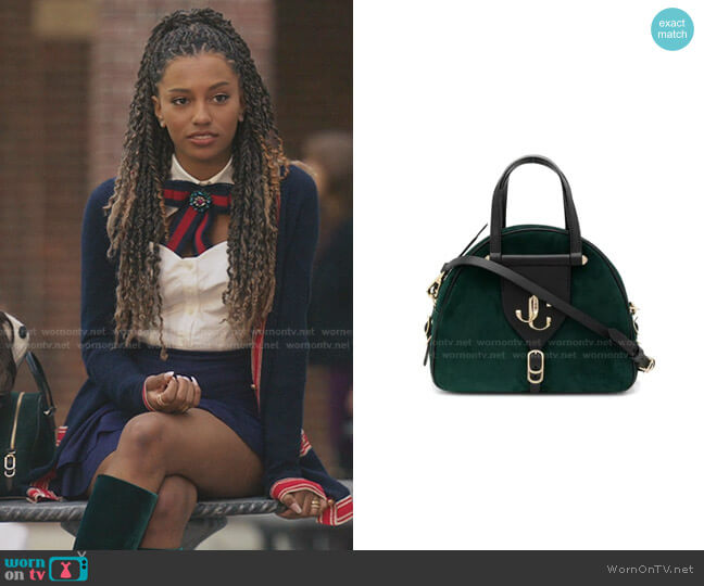 Varenne/S Bowling Bag by Jimmy Choo worn by Monet de Haan (Savannah Lee Smith) on Gossip Girl