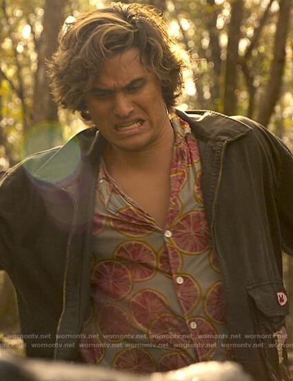 John B's grapefruit shirt on Outer Banks