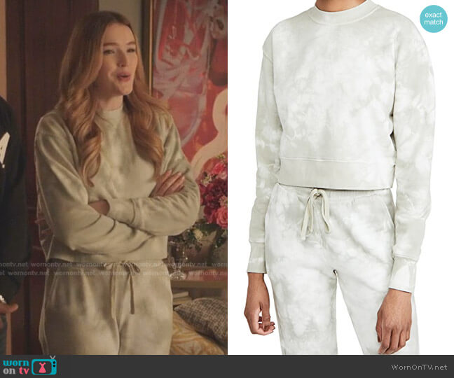 Tie Dye Cropped Sweatshirt by Jonathan Simkhai worn by Kirby Anders (Maddison Brown) on Dynasty