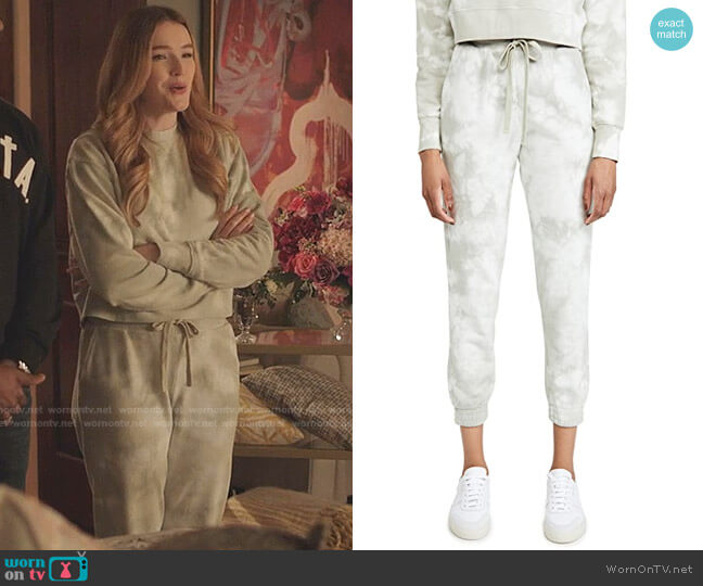 Tie Dye Sweatpants by Jonathan Simkhai worn by Kirby Anders (Maddison Brown) on Dynasty