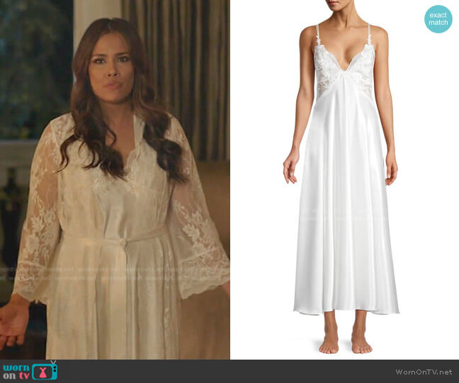 Collette Lace Slip Gown by Jonquil worn by Cristal Jennings (Daniella Alonso) on Dynasty