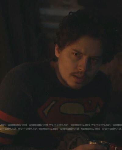 Jughead's blue superman sweater on Riverdale