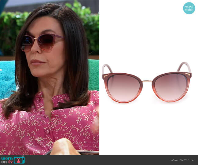 Luka Sunglasses by Kelly and Katie worn by Anna Devane (Finola Hughes) on General Hospital
