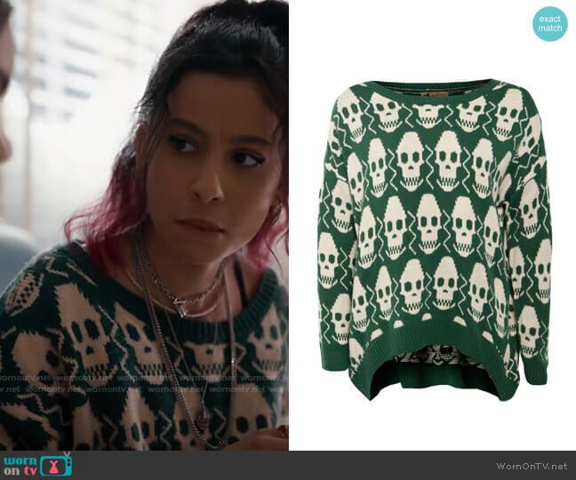 Katsumi Skull Sweater worn by Maya Jimenez (Izabella Alvarez) on The Republic of Sarah