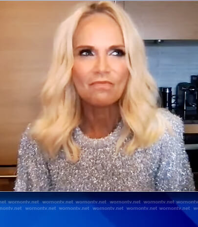 Kristin Chenoweth's silver mohair sweater on The View