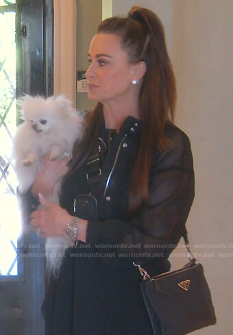 Kyle's black mesh jacket on The Real Housewives of Beverly Hills