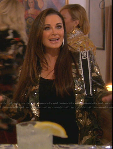 Kyle's sequin camo blazer on The Real Housewives of Beverly Hills