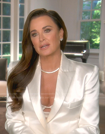 Kyle's white blazer on The Real Housewives of Beverly Hills