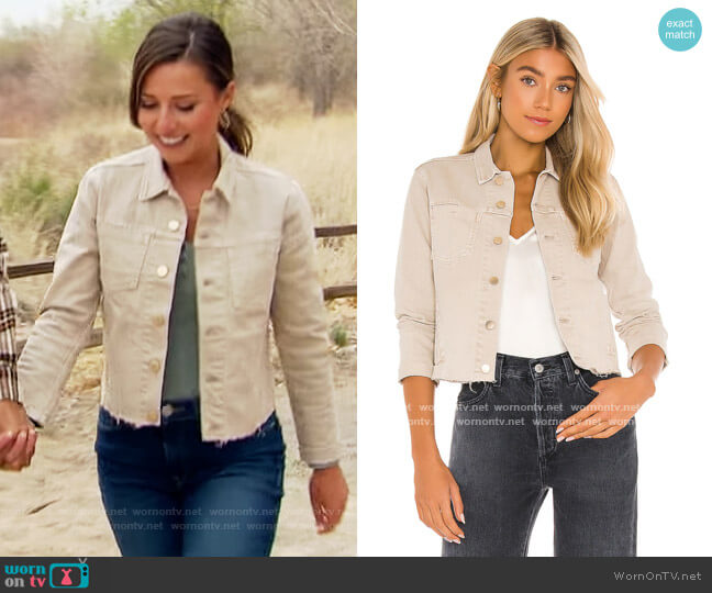 Janelle Slim Jacket by L'Agence worn by Katie Thurston  on The Bachelorette