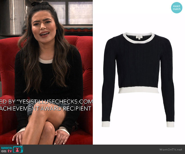 L'Agence Aceline Sweater worn by Carly Shay (Miranda Cosgrove) on iCarly
