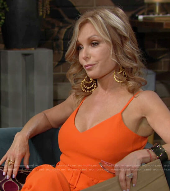 Lauren's orange jumpsuit on The Young and the Restless