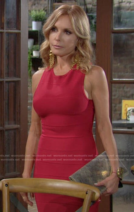 Lauren's red bandage dress on The Young and the Restless