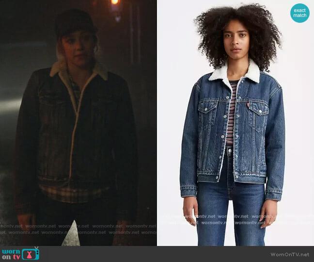 Ex Boyfriend Sherpa Trucker Jacket by Levis worn by Betty Cooper (Lili Reinhart) on Riverdale