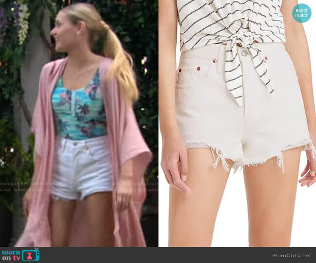 Levis 501 Cutoff Denim Shorts worn by Faith Newman (Reylynn Caster) on The Young & the Restless