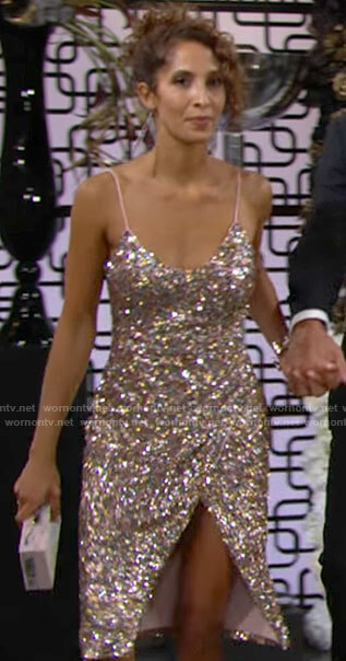 Lily's blush sequin party dress on The Young and the Restless