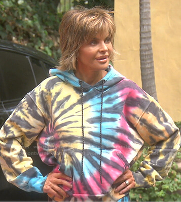 Lisa's tie dye hoodie and sweatpants on The Real Housewives of Beverly Hills