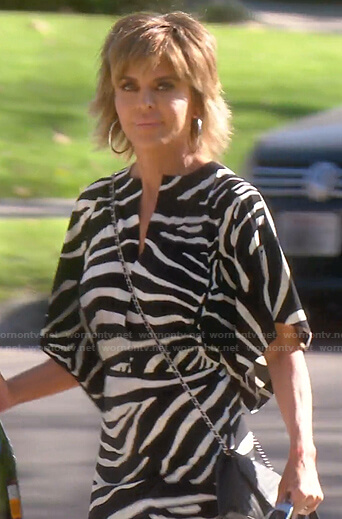 Lisa's zebra print maxi dress on The Real Housewives of Beverly Hills