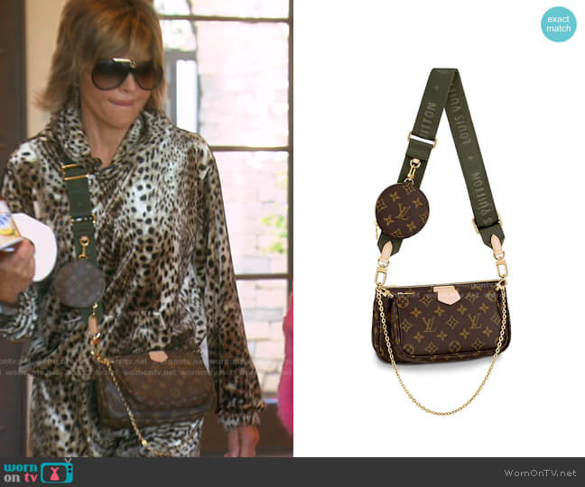 Pochette Accessoires by Louis Vuitton worn by Lisa Rinna  on The Real Housewives of Beverly Hills