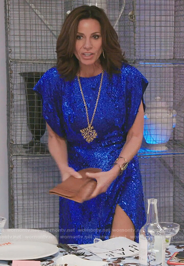 Luann's blue sequin dress on The Real Housewives of New York City