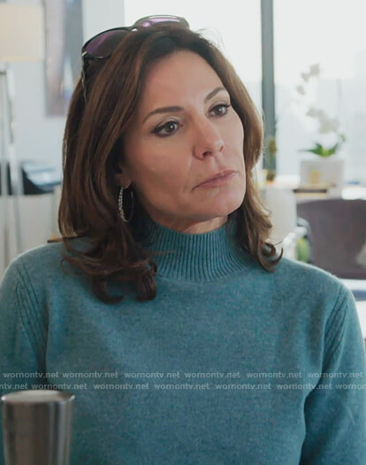 Luann's blue cashmere sweater on The Real Housewives of New York City