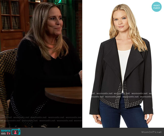 Studded Graham Jacket by Lysse worn by Laura Collins (Genie Francis) on General Hospital