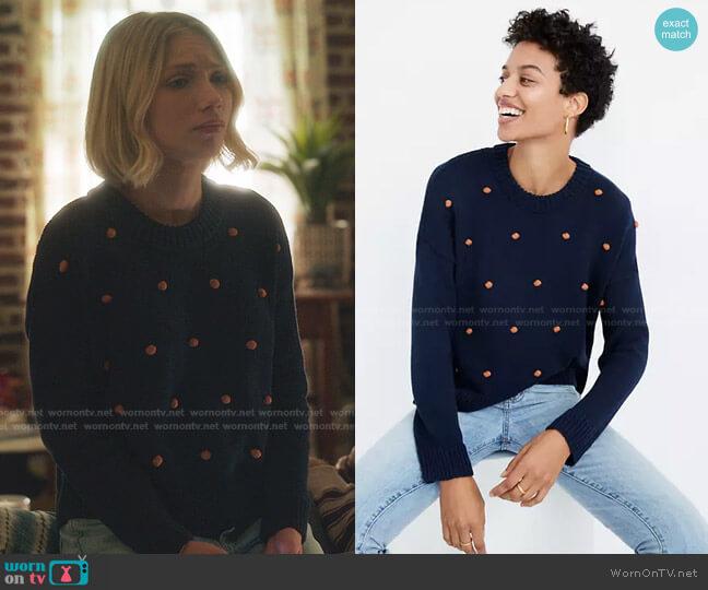 Wellesley Bobble Pullover Sweater by Madewell worn by Kate Keller (Tavi Gevinson) on Gossip Girl