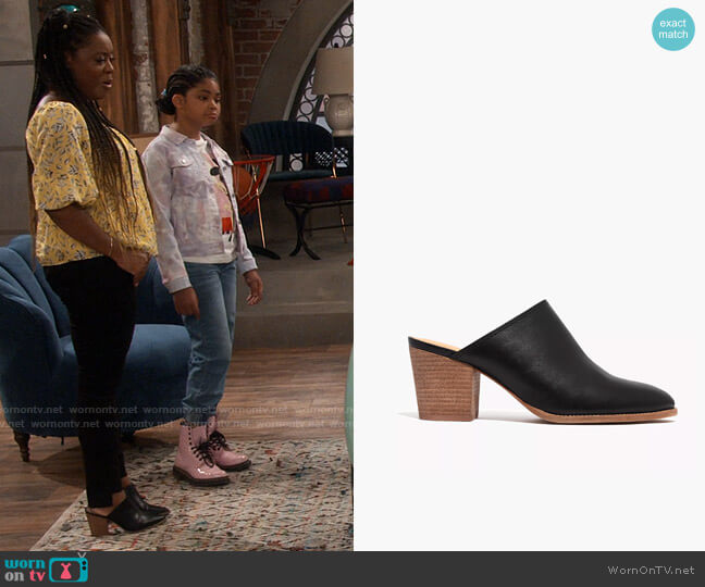 Madewell The Harper Mule worn by Maeve (Lyric Lewis) on iCarly